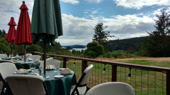 Patio with Deer Harbor in the distance