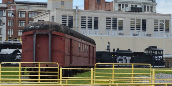 Altoona, PA: The old in the foreground and the new passing by in the background.