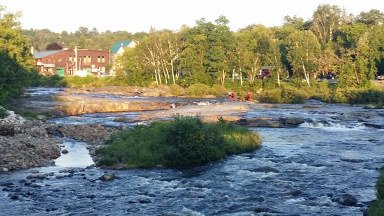 Littleton, NH: The Ammonoosuc River, from the Schilling patio.