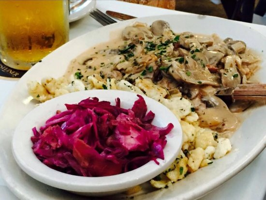 Pearland, TX: Red cabbage and Jaëger spaetzle