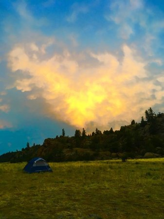 Buena Vista, CO: view from night 1 campsite