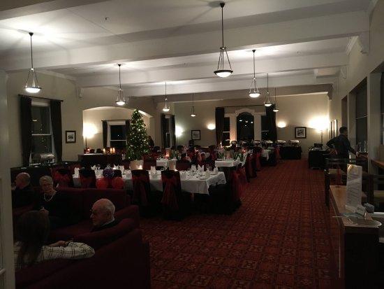 Hanmer Springs, Nowa Zelandia: The dining room set up for the Christmas Dinner in July 2017