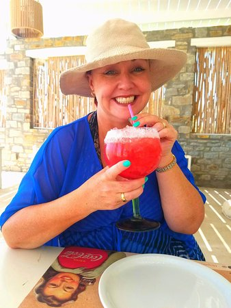Golden Beach, Grækenland: strawberry daiquiri is divine!