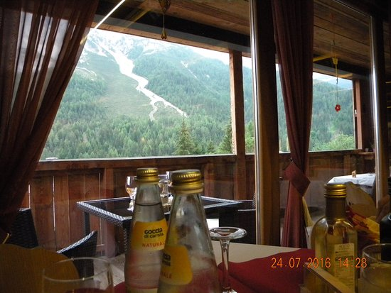 Cibiana di Cadore, Italy: The view from our table.