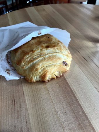 Riverwoods, IL: a chocolate croissant