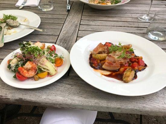 Rheda-Wiedenbruck, Alemania: salad, and prawn