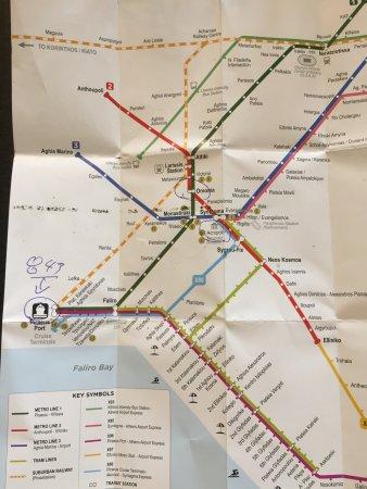 Metro Map And Prices Picture Of Attiko Metro S A Athens