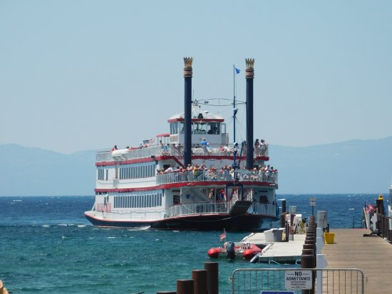 Zephyr Cove, NV: Waiting to board the M.S Dixie II