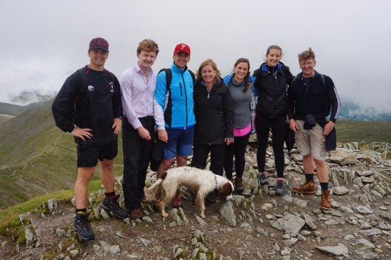 Dearham, UK: Ayling family conquer Hellvellyn with the help of Lakeland Mountain Guides!