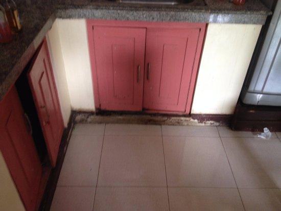 Costa Villa Beach Resort: dirty kitchen cabinets