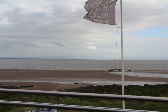 Powfoot, UK: View from the residents lounge balcony over the solway firth