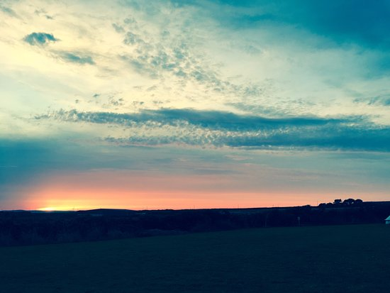 Breage, UK: Sunset at Dropped Anchor