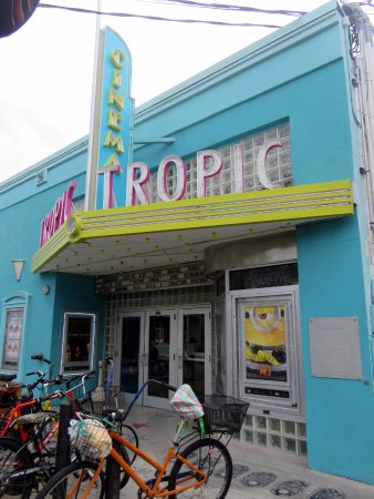 front of the Tropic Cinema