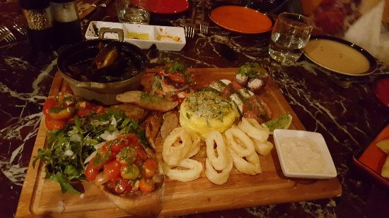Prego: Antipasto with Seafood, Meats and Cheses