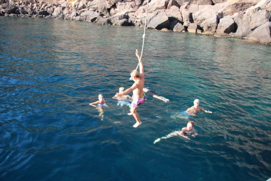 Port de Sóller, España: Rope swing