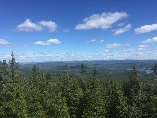 Sysslebäck, Suecia: Hotellet ligger på toppen af bjerget (man kører 12 km opad for at komme til det)