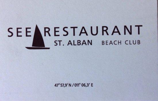 Diessen, Germania: Seerestaurant St. Alban