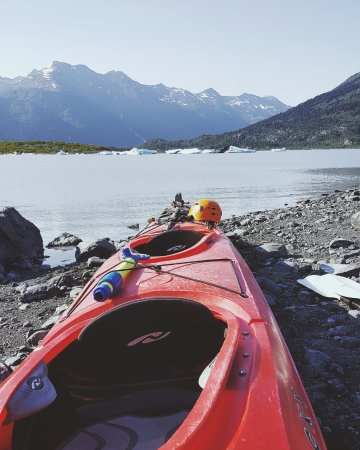 Ascending Path Tandem Sea Kayak Across A Glacial Lake