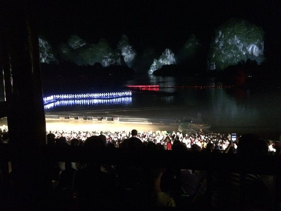 Impression Sanjie Liu (Evening Showtime): Part of show where it looks like the cast walks on water