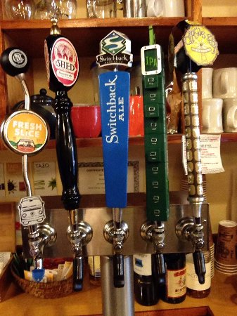 Montpelier, VT: Local beers on tap! We always carry The Shed and Switchback.