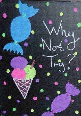 Stonehaven, UK: chalk board advert
