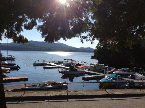 Georgeville, Canada: Vue de la terrasse