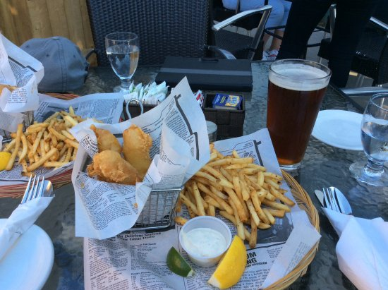 Georgeville, Kanada: Fish and chip.
