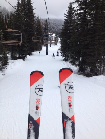 Whitefish, MT: Going up Chair 9 Lift