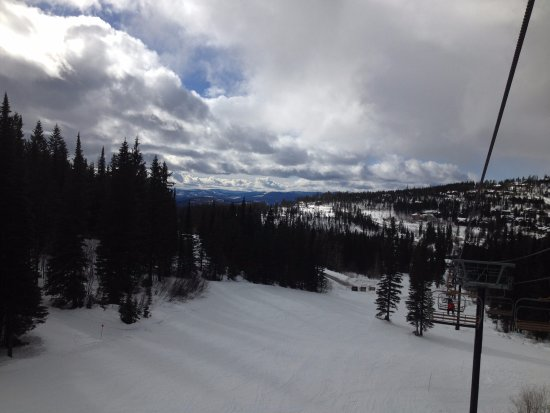 Whitefish, MT: Partly cloudy day, looking down 9.