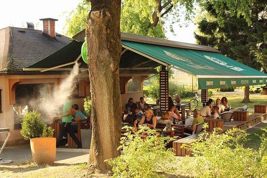 Ivanic Grad, Croacia: Nice terrace wit cooling