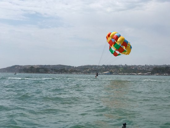 DANA POINT PARASAIL, you can't miss this Beautiful Parasail outside of Dana Point Harbor! Check