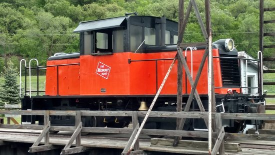 Sioux City, IA: Our restored diesel locomotive