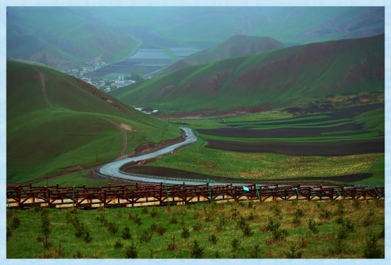 Qilian County, Chine : Gorgeous Valley