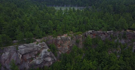 Calabogie, Canada: Drone view of the Eagle's Nest lookout.