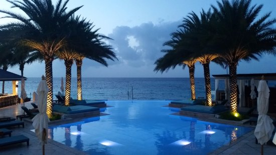 infinity pool beach house. Zemi Beach House, Hotel \u0026 Spa: Infinity Pool At Night House L