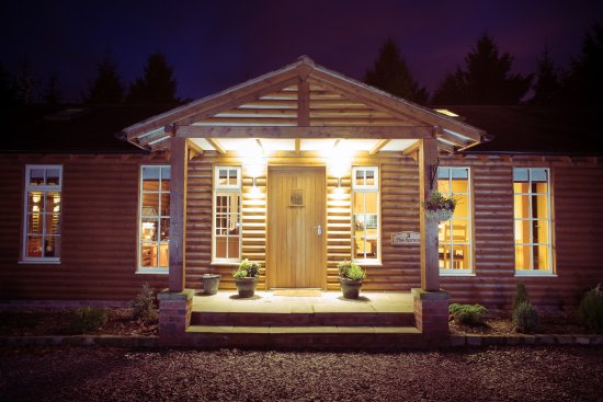 Little Budworth, UK: The Spruce by night