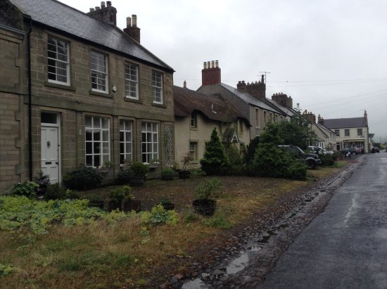 Town Yetholm on a wet morning