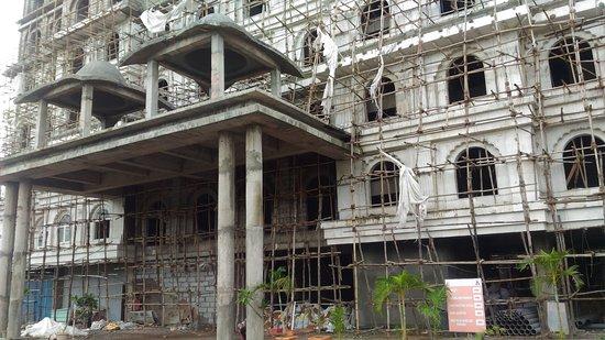 ISKCON Khargar: Under construction ISKCON temple