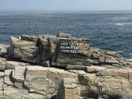 Cape Elizabeth, ME: Ship wreck sign outside Portland Head Light