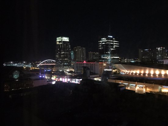 Renaissance Nashville Hotel: View towards Broadway from my room.