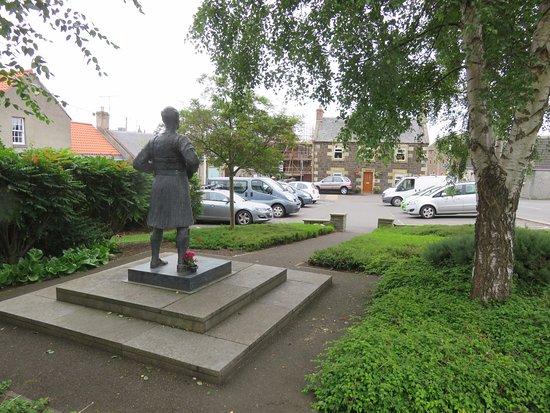 Auchtermuchty, UK: view towards the car park