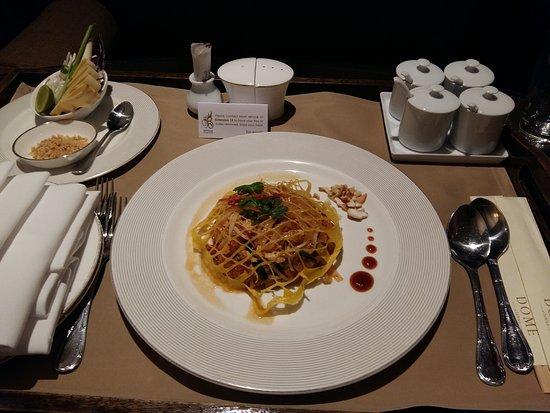 Late-night room service (the obligatory Pad Thai)