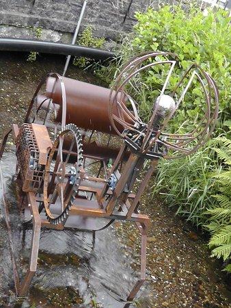 Dulverton, UK: Water Sculpture at Town Mills.