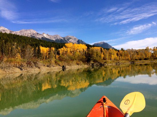 Golden, Canada: stunning colours of Columbia mountains