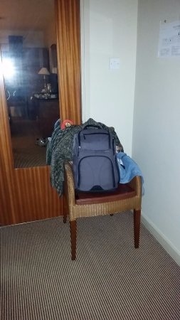 Isle of Mull Hotel & Spa : Chair blocking door after another guest came in with their key...
