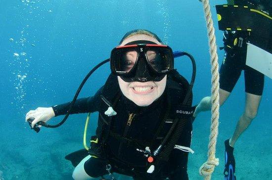 Κόλπος Simpson (Λιμνοθάλασσα), Άγιος Μαρτίνος: Me ascending after a spectacular dive!