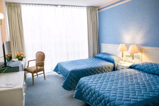 San Francisco Toluca Hotel: HABITACION ESTANDAR CON DOS CAMAS MATRIMONIALES CAPACIDAD PARA 4 PERSONAS