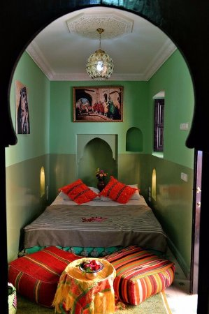 Chambre verte - Picture of Riad Bleu Topaze, Marrakech - TripAdvisor