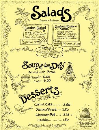 Coxsackie, Estado de Nueva York: Menu - Salads/Soup/Desserts