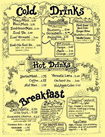 Coxsackie, NY: Menu - Drinks/Breakfast